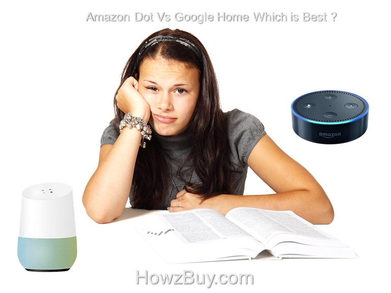Amazon Dot Vs Google Home Compare