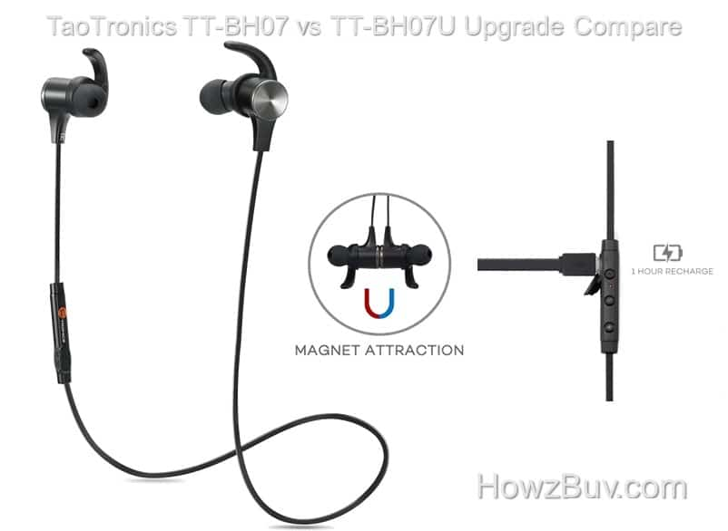 TaoTronics TT-BH07 vs TT-BH07U Upgrade Compare