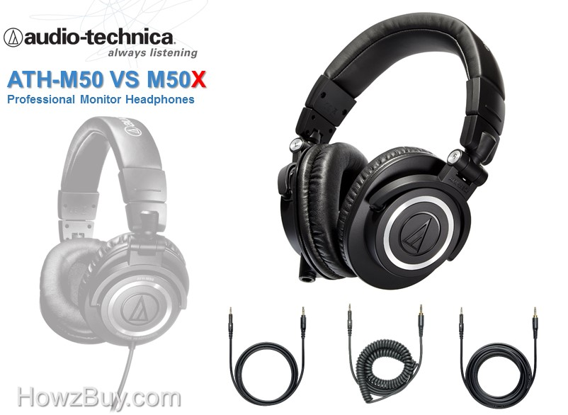 Audio-Technica ATH-M50 vs M50x Review and comparison