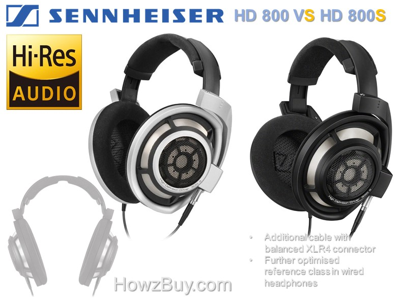 Sennheiser HD800 vs 800S Reference Dynamic Headphone Compare
