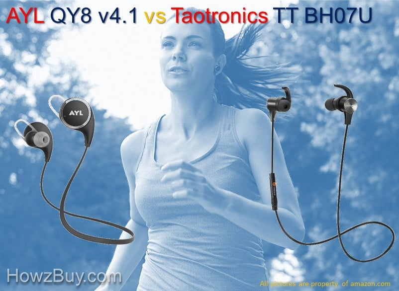 AYL QY8 v4.1 vs Taotronics TT BH07U Bluetooth Headphones Compared