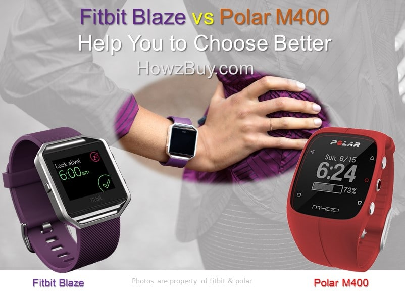 Fitbit Blaze vs Polar M400 Smart Sports Watch Comparison