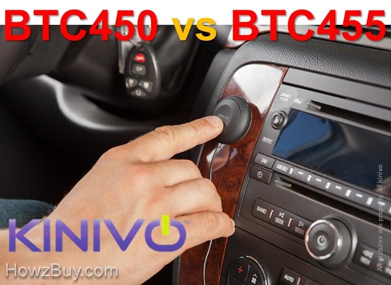 Kinivo BTC450 vs BTC455 Bluetooth Hands-Free Car Kit Comparison