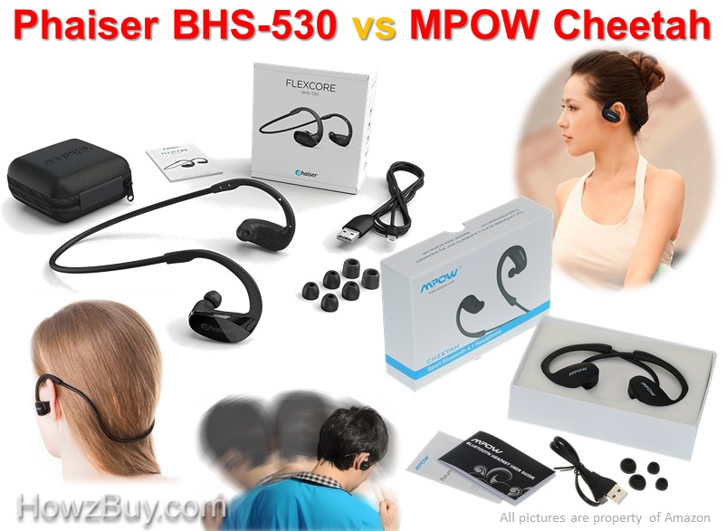Phaiser BHS-530 vs MPOW Cheetah Bluetooth Headphones Comparison