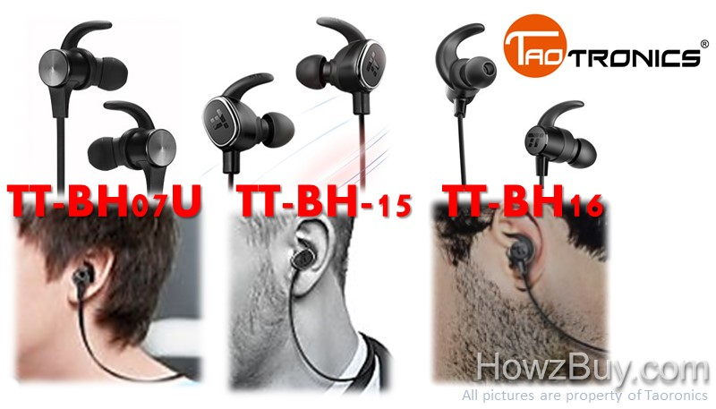 Taotronics TT-BH07U vs TT-BH-15 vs TT-BH16 Headphones review