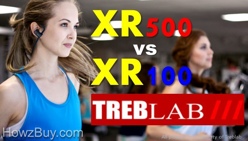 Treblab XR500 vs XR100 Bluetooth Headphones Review
