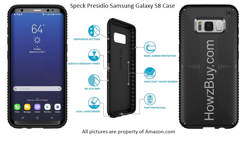 Speck Presidio Samsung Galaxy S8 Case (Plus)