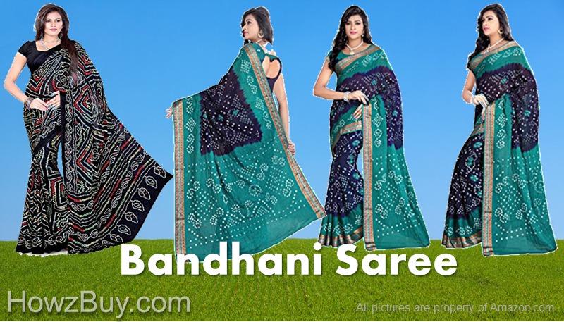 Indian traditional Bandhani Saree Buying Online