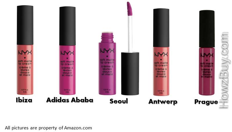 NYX Soft Matte Lip Cream Pink & Purple Shades