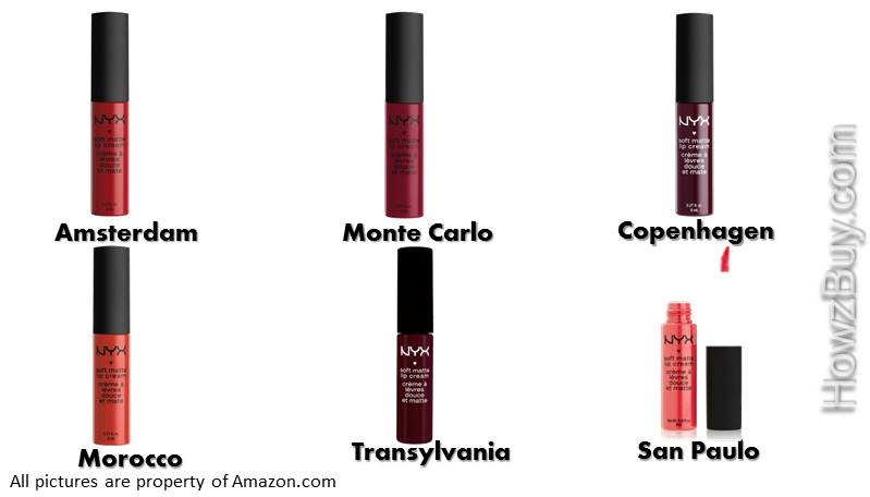 NYX Soft Matte Lip Cream Red & Maroon Shades
