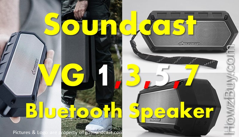 Soundcast VG1 vs VG3 vs VG5 vs VG7 Bluetooth Speaker Review