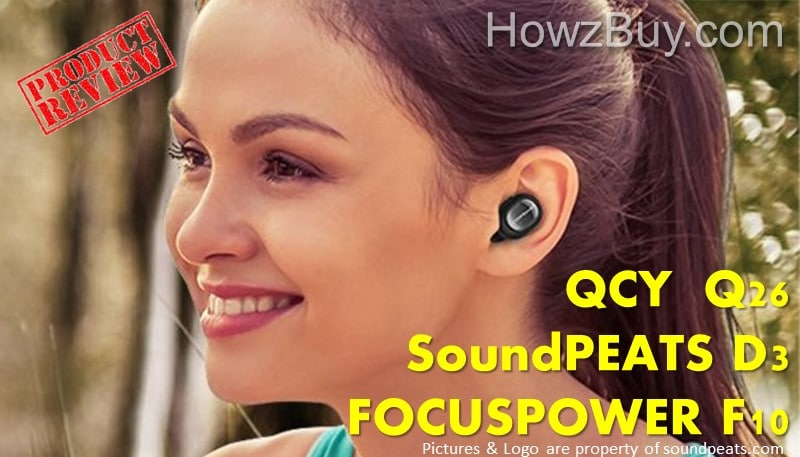 FOCUSPOWER F10 vs SoundPEATS D3 vs QCY Q26 Mini Invisible Earpiece