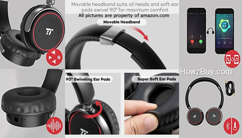 TaoTronics TT BH20-TaoTronics-TT-BH20-VS-Mpow-M3-wireless bluetooth-wireless-bluetooth-headphones-battery life-review-Wireless Headphones