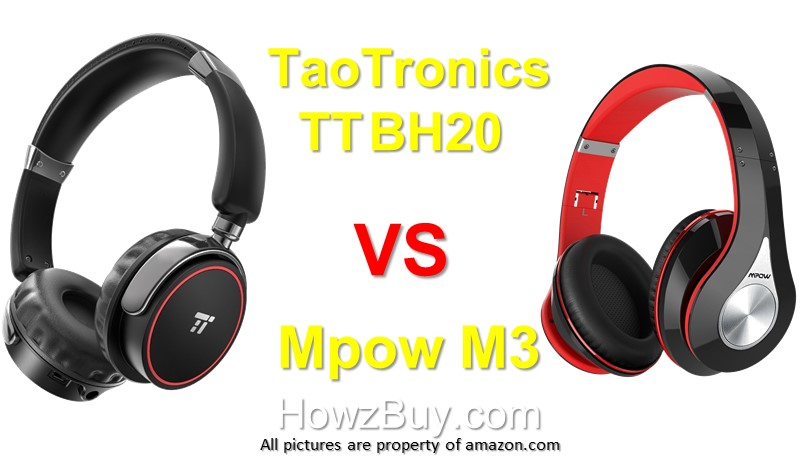 TaoTronics TT BH20-TaoTronics-TT-BH20-VS-Mpow-M3-wireless bluetooth-wireless-bluetooth-headphones-battery life-review-Wireless Headphones
