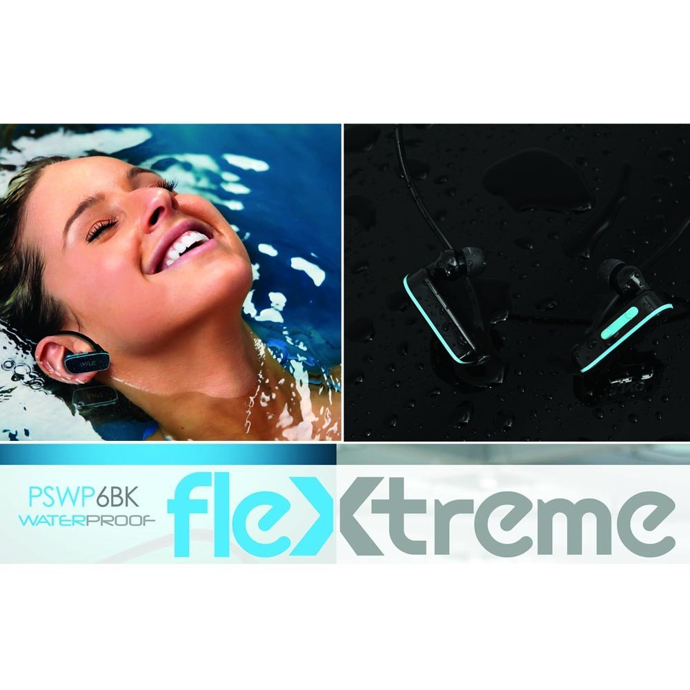 Pyle Flextreme Waterproof Headphones & Swimming Earbuds