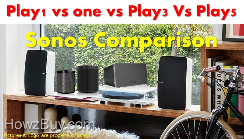 Sonos Play1 vs Sonos one vs Play3 vs Play 5 Compact Wireless Speaker Comparison & review