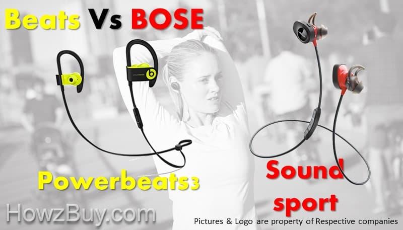 Beats Powerbeats3 vs Bose Soundsport Wireless Headphones Comparison