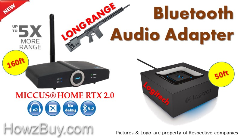 Highest Range Bluetooth Transmitter - Get Music till Backyard or Patio