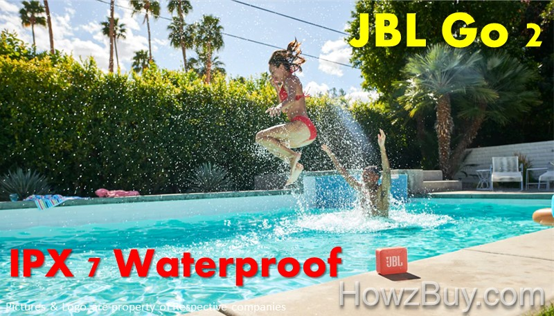 JBL Go vs Go 2 upgrade - IPX7 Fully Waterproof Design