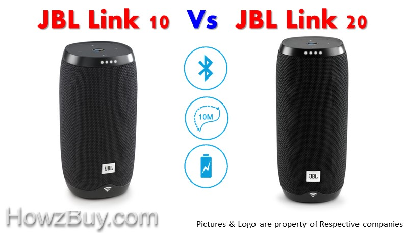 JBL LINK 10 vs JBL LINK 20 Voice Activated Portable Speaker Comparison