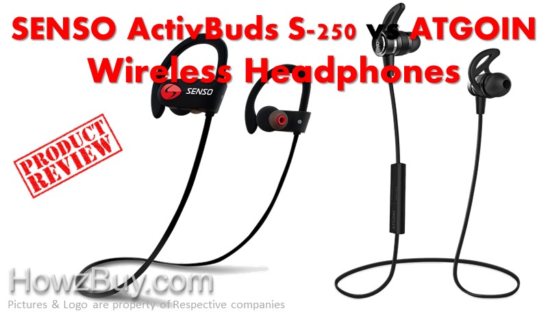 SENSO ActivBuds S-250 vs ATGOIN Wireless Headphones compare & review