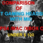best Gaming Headsets under 100 with mic
