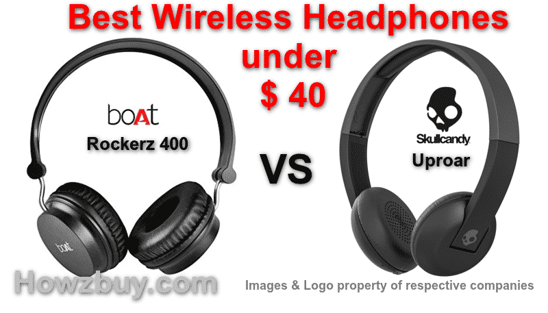 boat rockerz vs skullcandy best headphones under $40