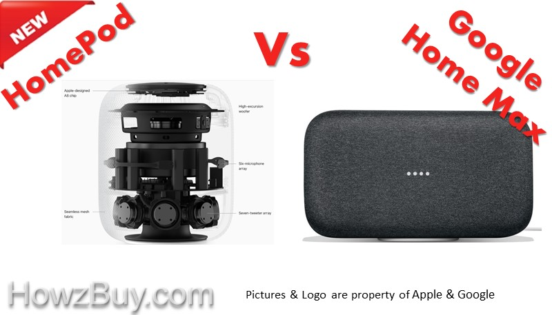 Apple HomePod vs Google Home Max Review & Comparison