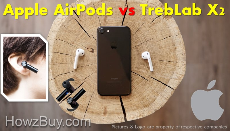 Treblab X2 vs Apple AirPods - Cheapest Alternative save over $125