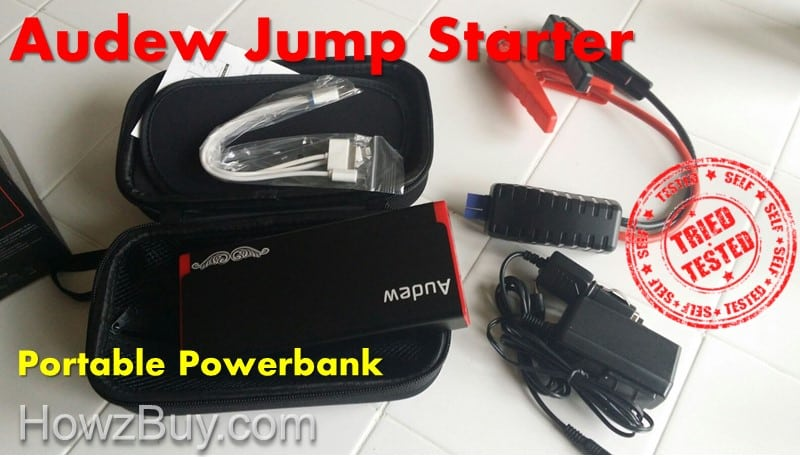 Audew Jump Starter Hands On Review [Portable Powerbank]