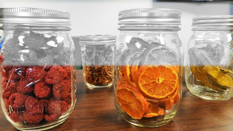 Mason jars at my home - vacuum sealed