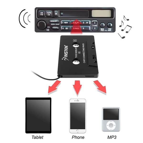 audio cassette adapter for car