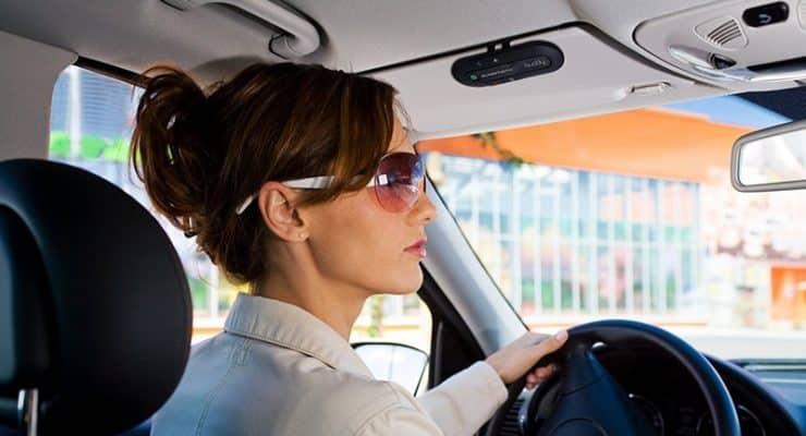 bluetooth visor speakerphone kit for car