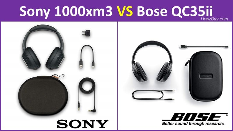 Bose QuietComfort 35 II vs Sony WH-1000xM3 review and specs compare