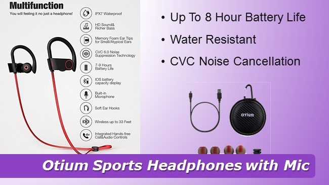 Otium Sports Headphones with Mic review 2019