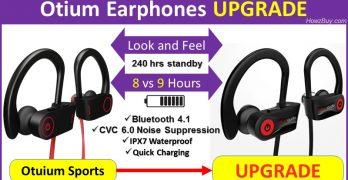 Otium wireless Earphones UPGRADE specs compare and review