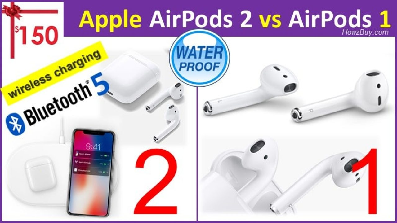 Apple Airpods 2 Vs Airpod 1 Second Gen Rumored 250