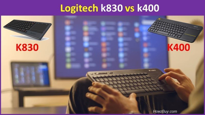 Logitech k830 vs k400 mini wireless keyboard review and comparison