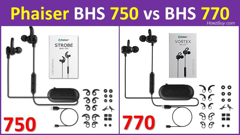 Phaiser BHS 750 vs BHS 770 headphones