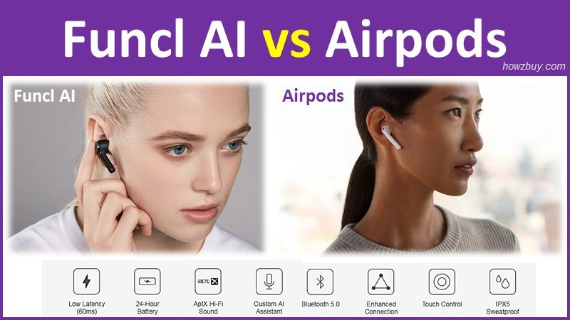 funcl ai vs apple airpods cheap apternative from indiegogo