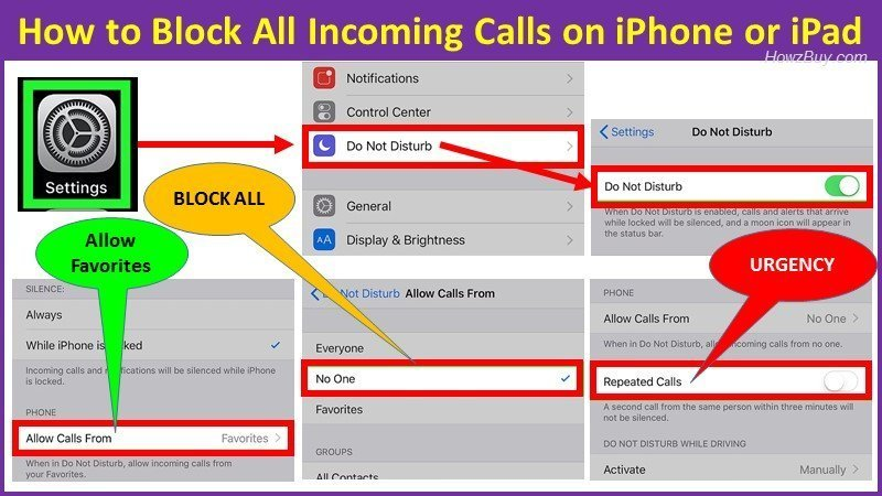 How to Block All Incoming Calls on iPhone or iPad?