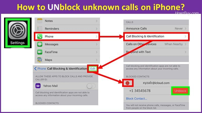How to UNblock unknown calls on iPhone iPad?