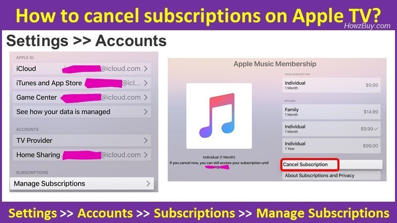 How to cancel subscriptions on Apple TV guide