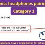 Plantronics headphones pairing guide - single button for call control & power