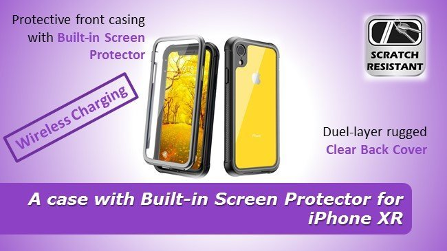 cheap case with Built-in Screen Protector for iPhone XR