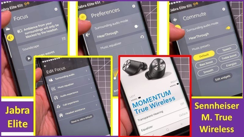 jabra elite versus Sennheiser Momentum True Wireless app review