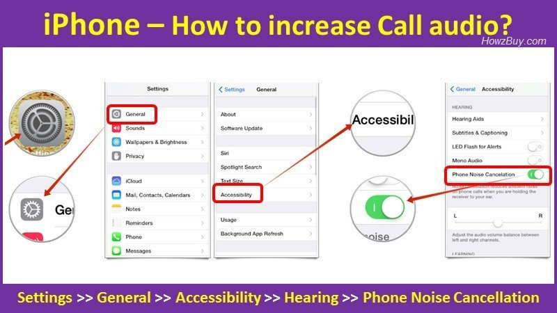 How to increase Call audio on iPhone?