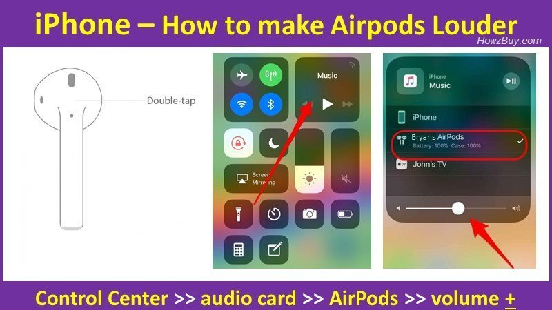 How to make Airpods Louder on iPhone?