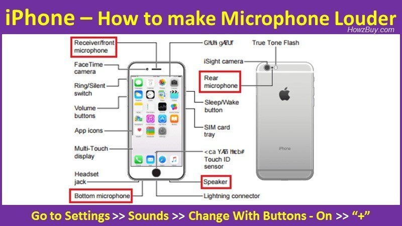 How to make Microphone Louder on iPhone X, XS, XS Max?