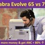 Jabra Evolve 65 vs 75 wireless headphones compare and review